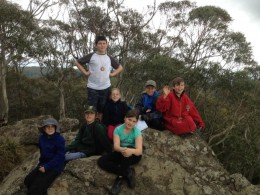 Cubs at the ANZAC Weekend Camp on Mt Macedon hike  in 2014