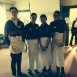 Scouts helping out at St. John Church - luncheon catering 2014